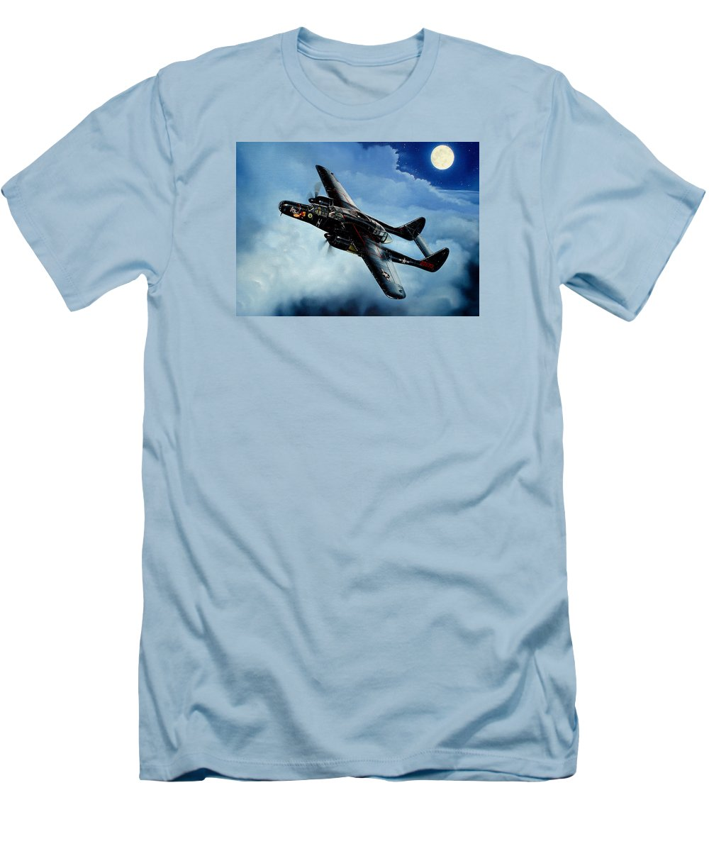 Military Men's T-Shirt (Athletic Fit) featuring the painting Lady In The Dark by Marc Stewart