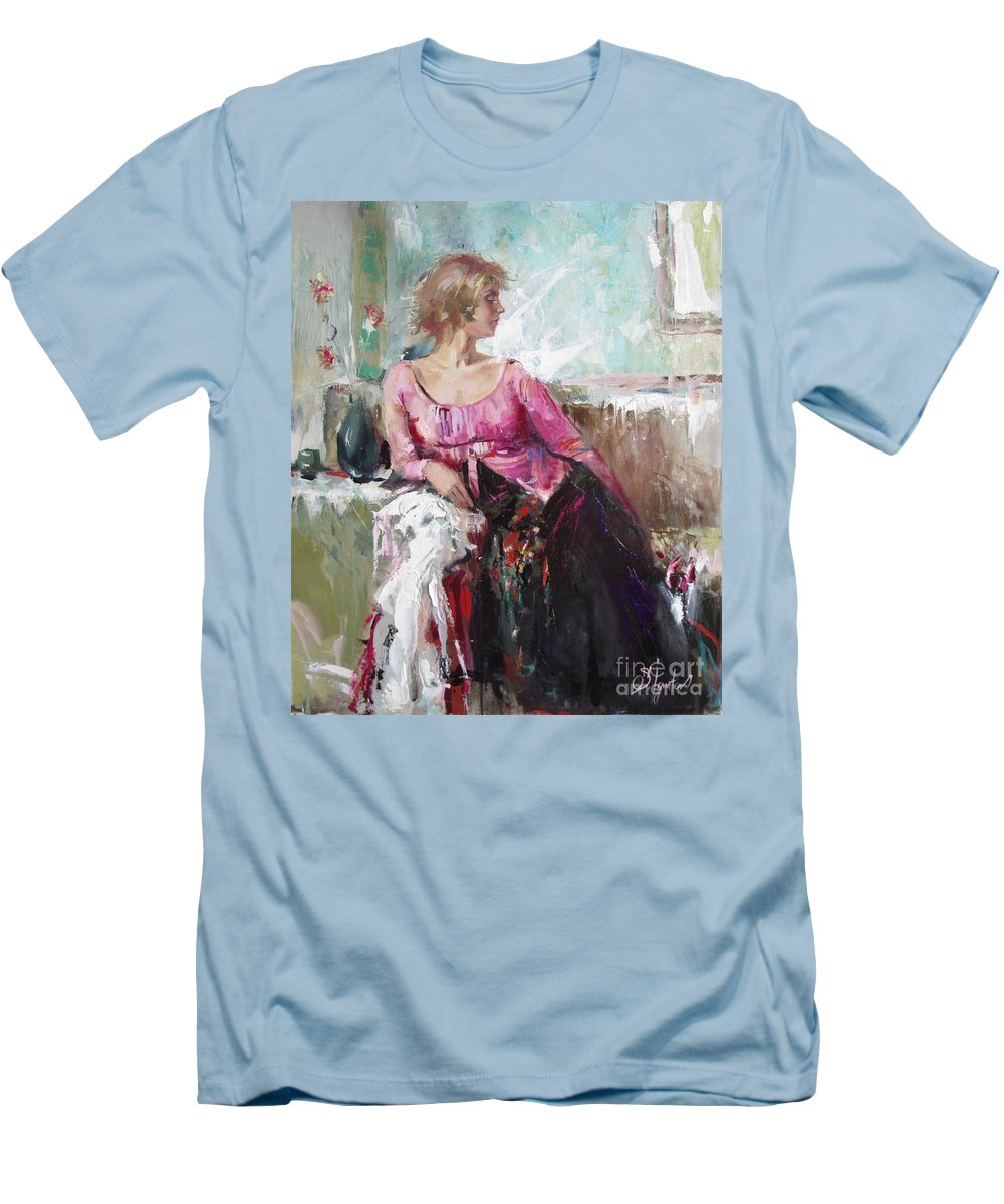 Ignatenko Men's T-Shirt (Athletic Fit) featuring the painting Lera by Sergey Ignatenko
