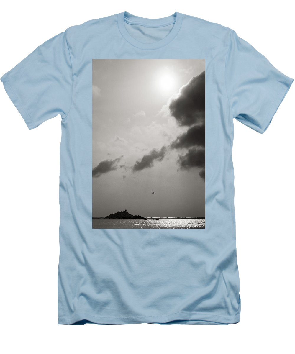 Abstract Men's T-Shirt (Athletic Fit) featuring the photograph Light Of The Sky by Konstantin Dikovsky