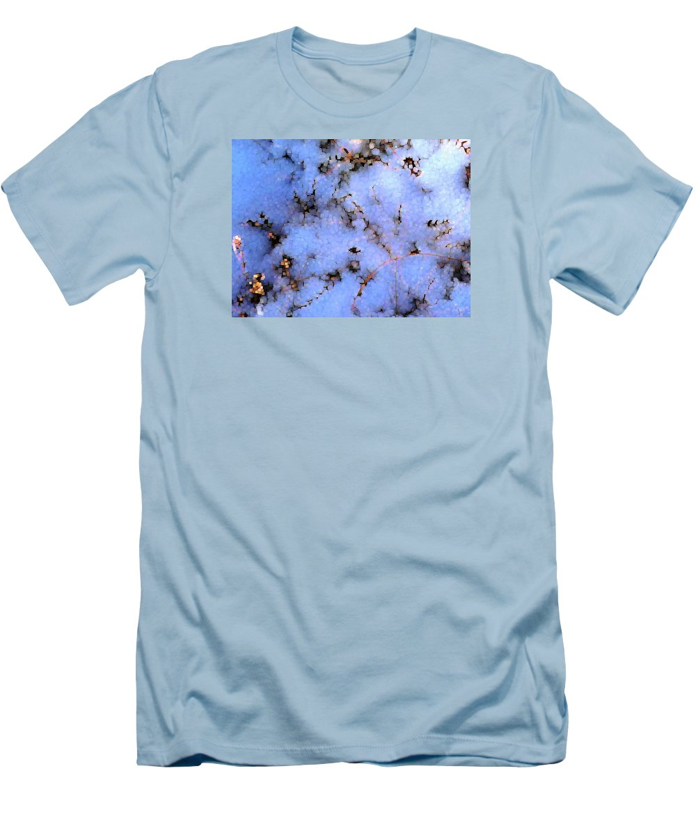 Abstract Men's T-Shirt (Athletic Fit) featuring the digital art Light Snow In The Woods by Dave Martsolf