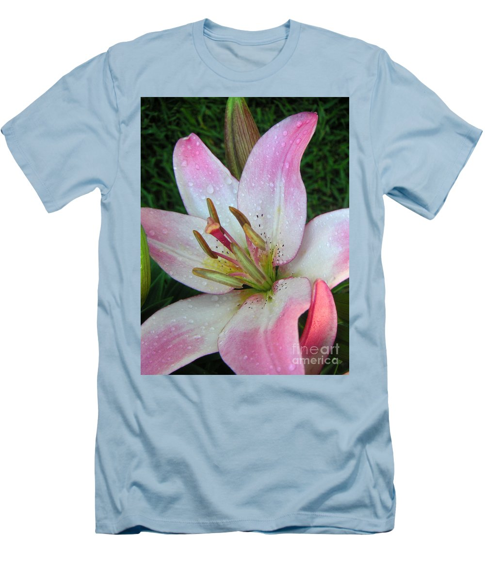 Nature Men's T-Shirt (Athletic Fit) featuring the photograph Lily Singled Out by Lucyna A M Green