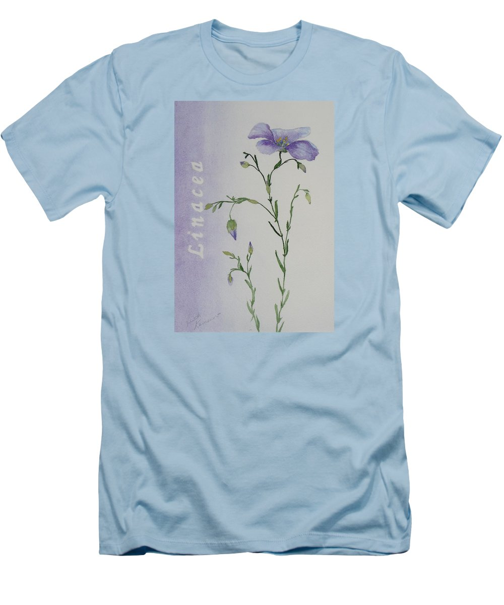 Flower Men's T-Shirt (Athletic Fit) featuring the painting Linacea by Ruth Kamenev