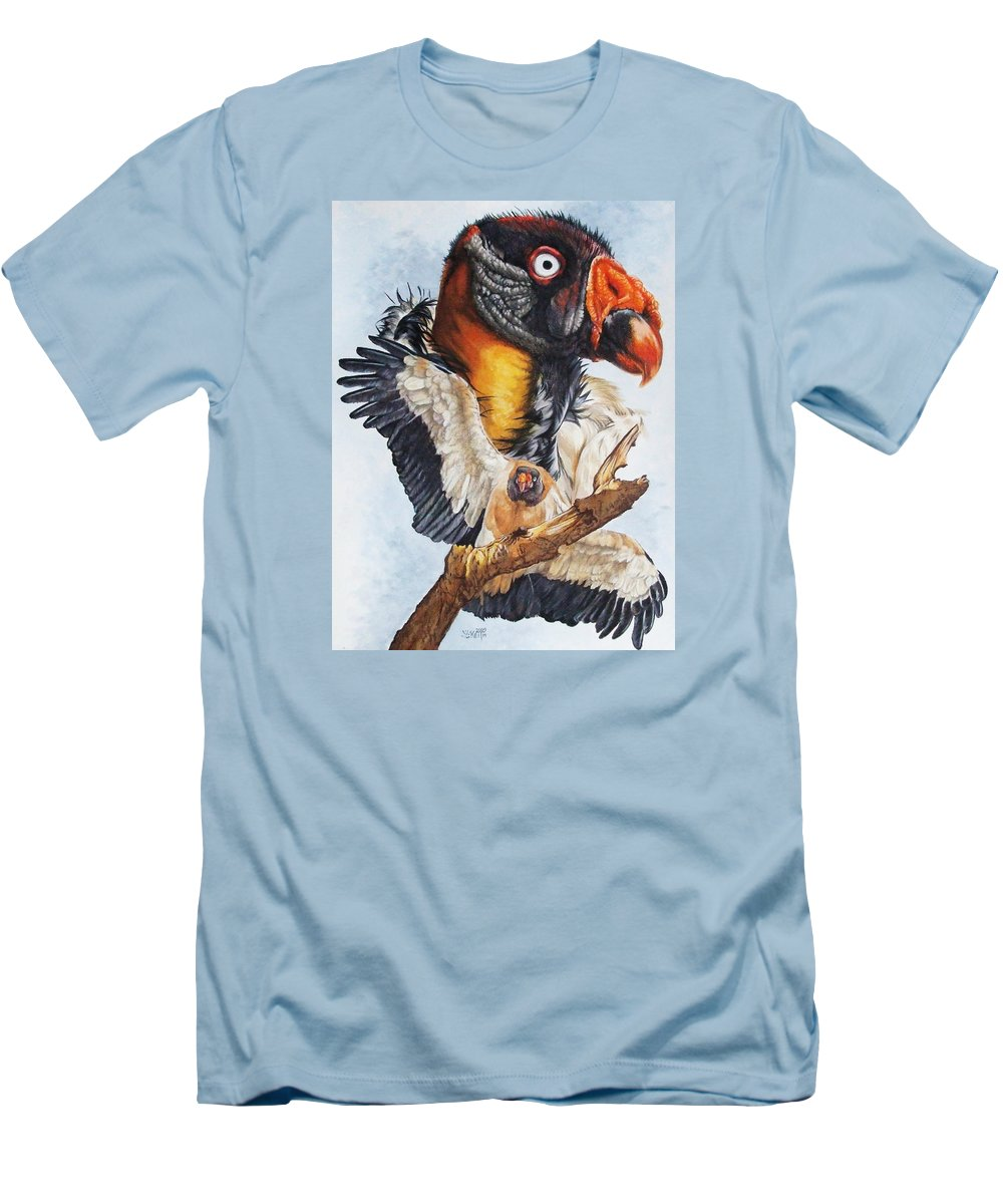 Vulture Men's T-Shirt (Athletic Fit) featuring the mixed media Marauder by Barbara Keith