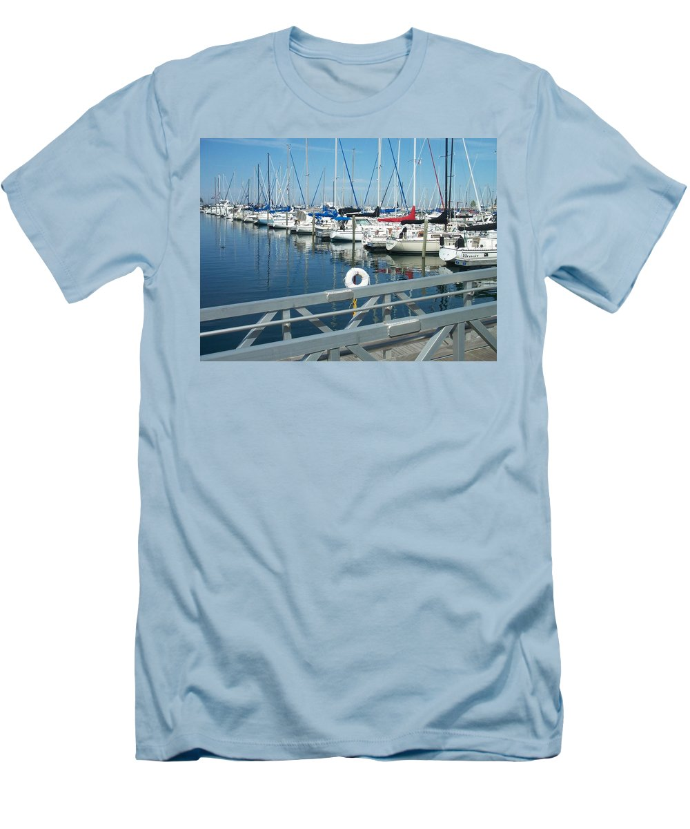 Mckinley Marina Men's T-Shirt (Athletic Fit) featuring the photograph Mckinley Marina 4 by Anita Burgermeister
