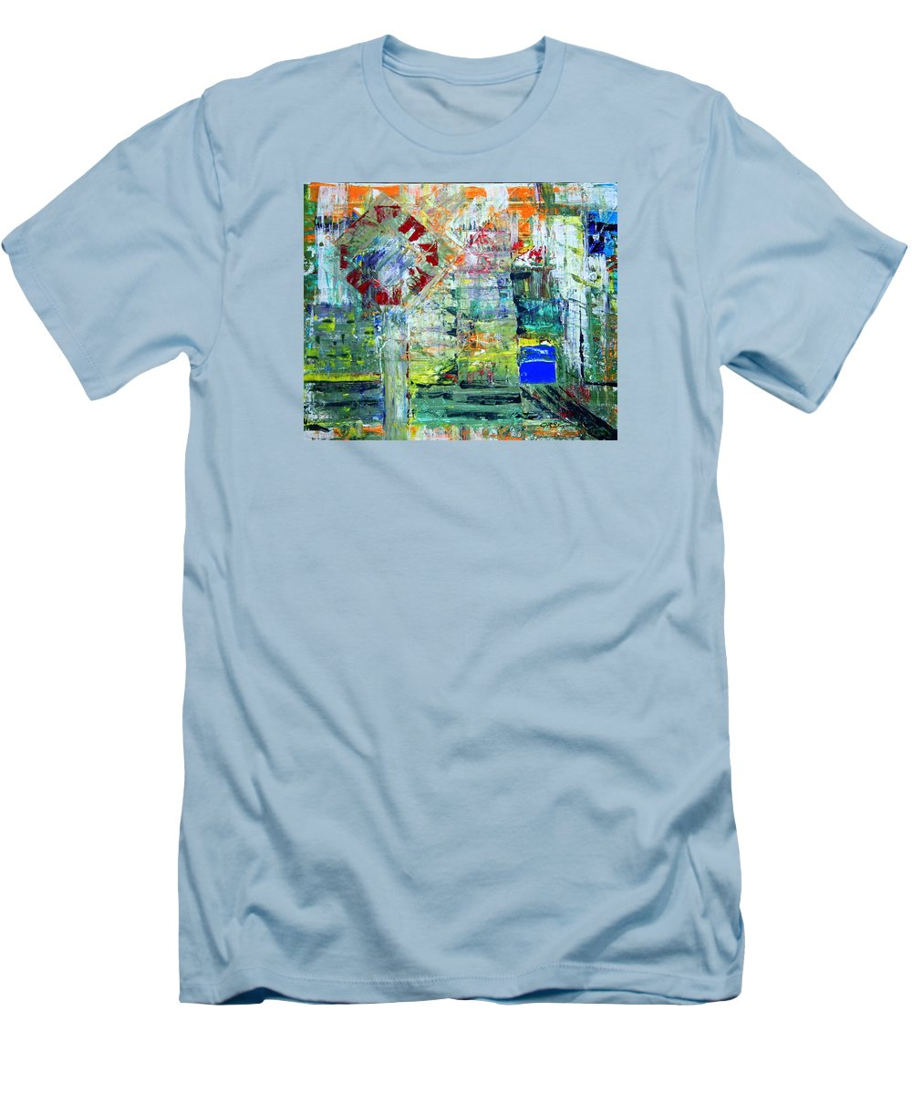 Abstract Men's T-Shirt (Athletic Fit) featuring the painting Milton Place by J R Seymour