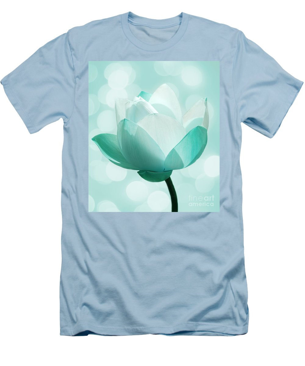 Lotus Men's T-Shirt (Athletic Fit) featuring the photograph Mint by Jacky Gerritsen