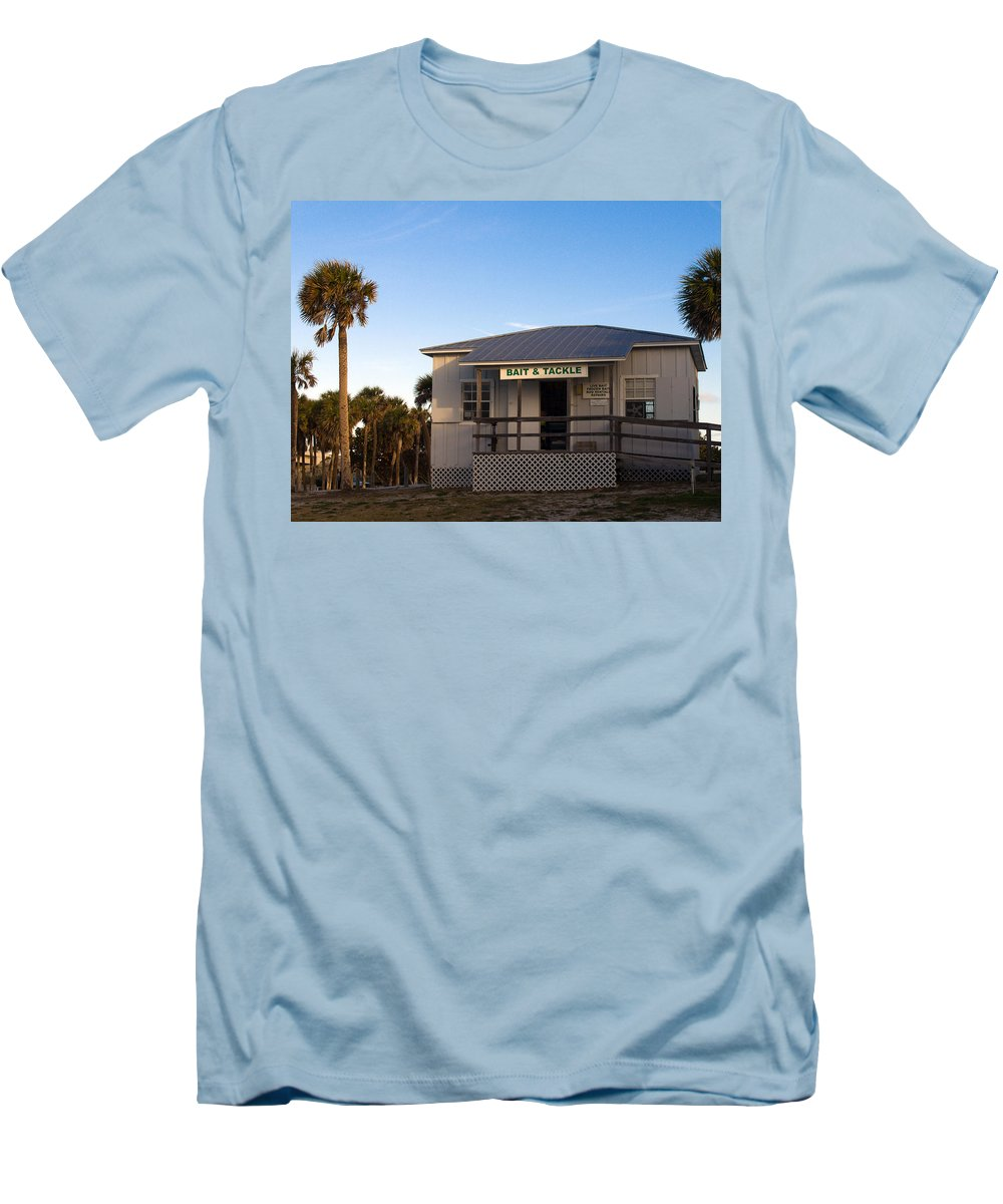Morning Men's T-Shirt (Athletic Fit) featuring the photograph Morning At Sebastian Inlet In Florida by Allan Hughes