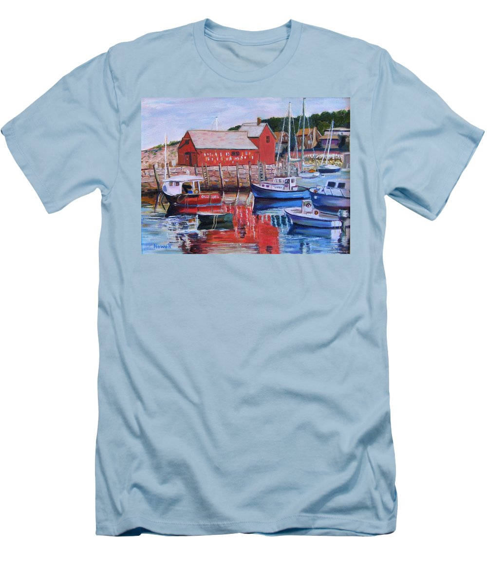 Rockport Men's T-Shirt (Athletic Fit) featuring the painting Motif Number One by Richard Nowak