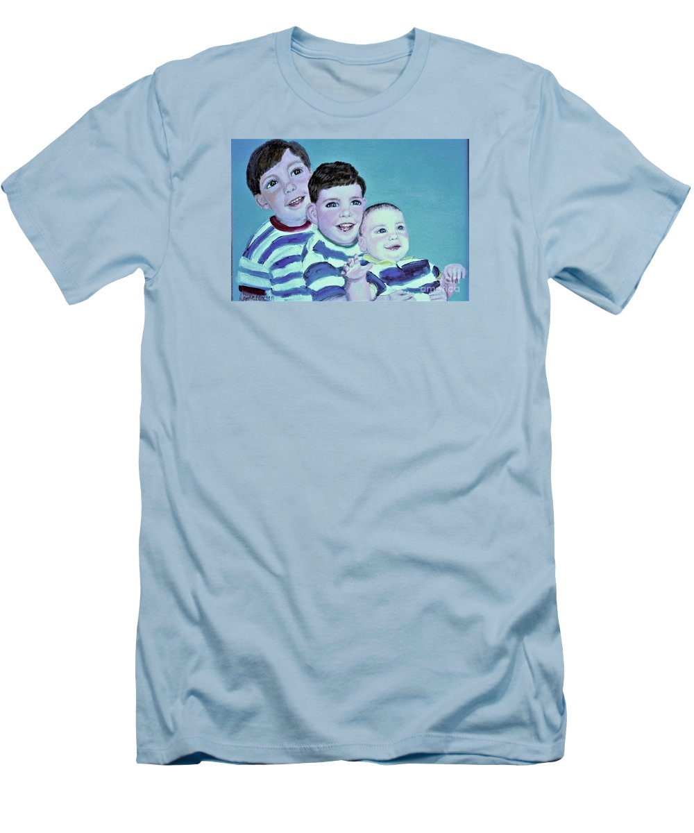 Children Men's T-Shirt (Athletic Fit) featuring the painting My Three Sons by Laurie Morgan