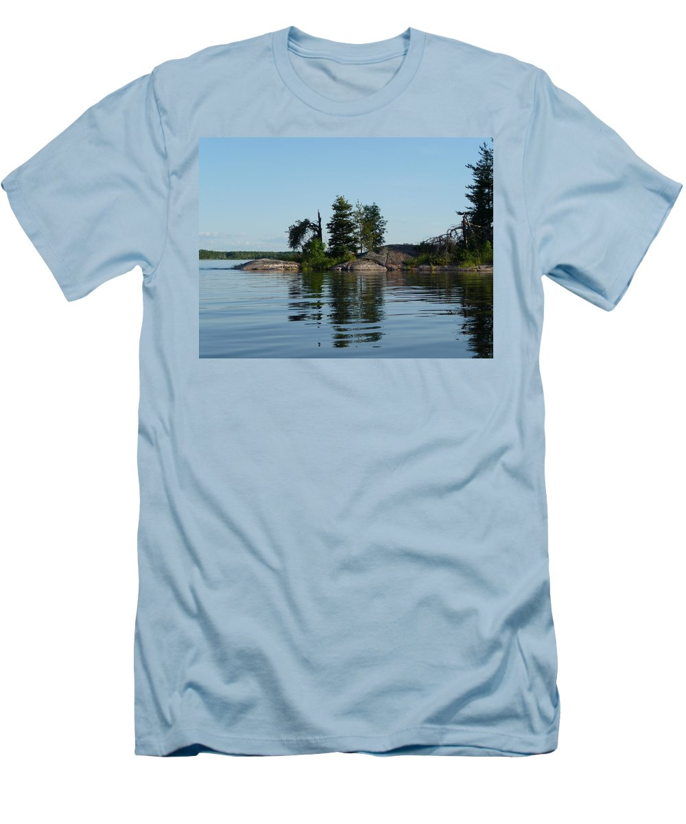 Lake Men's T-Shirt (Athletic Fit) featuring the photograph Natural Breakwater by Ruth Kamenev
