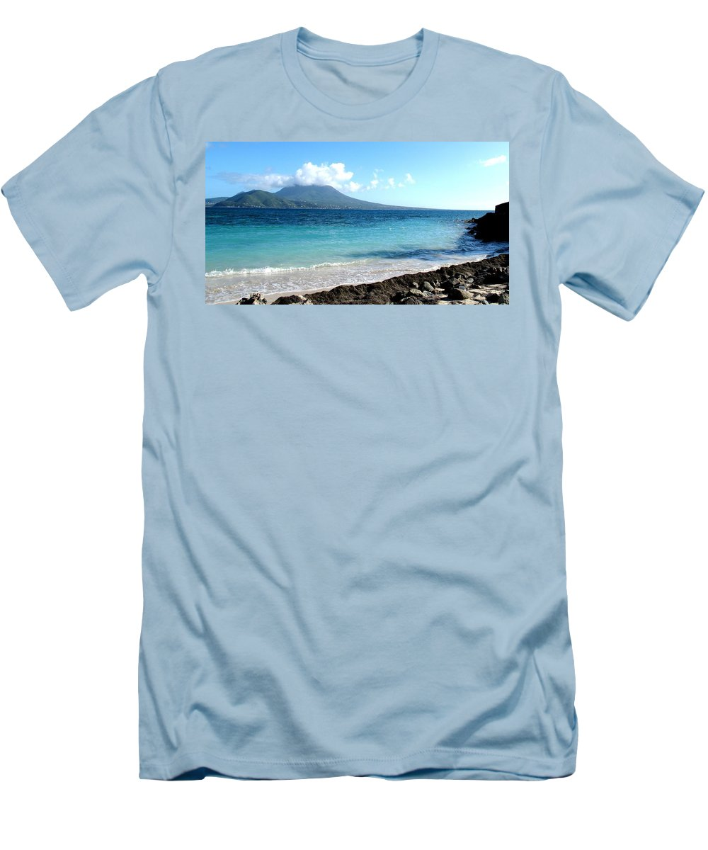 Nevis Men's T-Shirt (Athletic Fit) featuring the photograph Nevis Across The Channel by Ian MacDonald