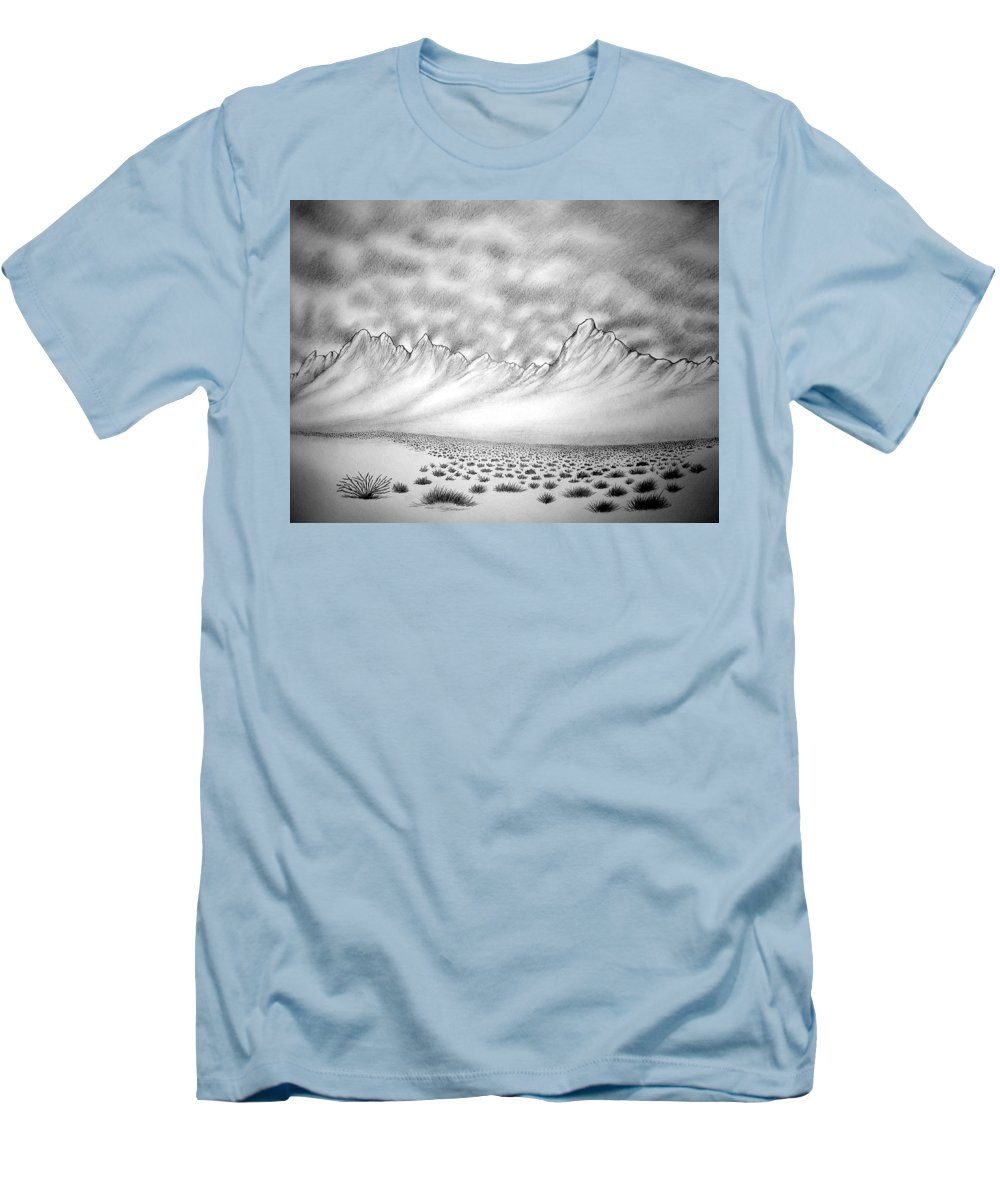 Men's T-Shirt (Athletic Fit) featuring the drawing New Mexico Passage by Marco Morales