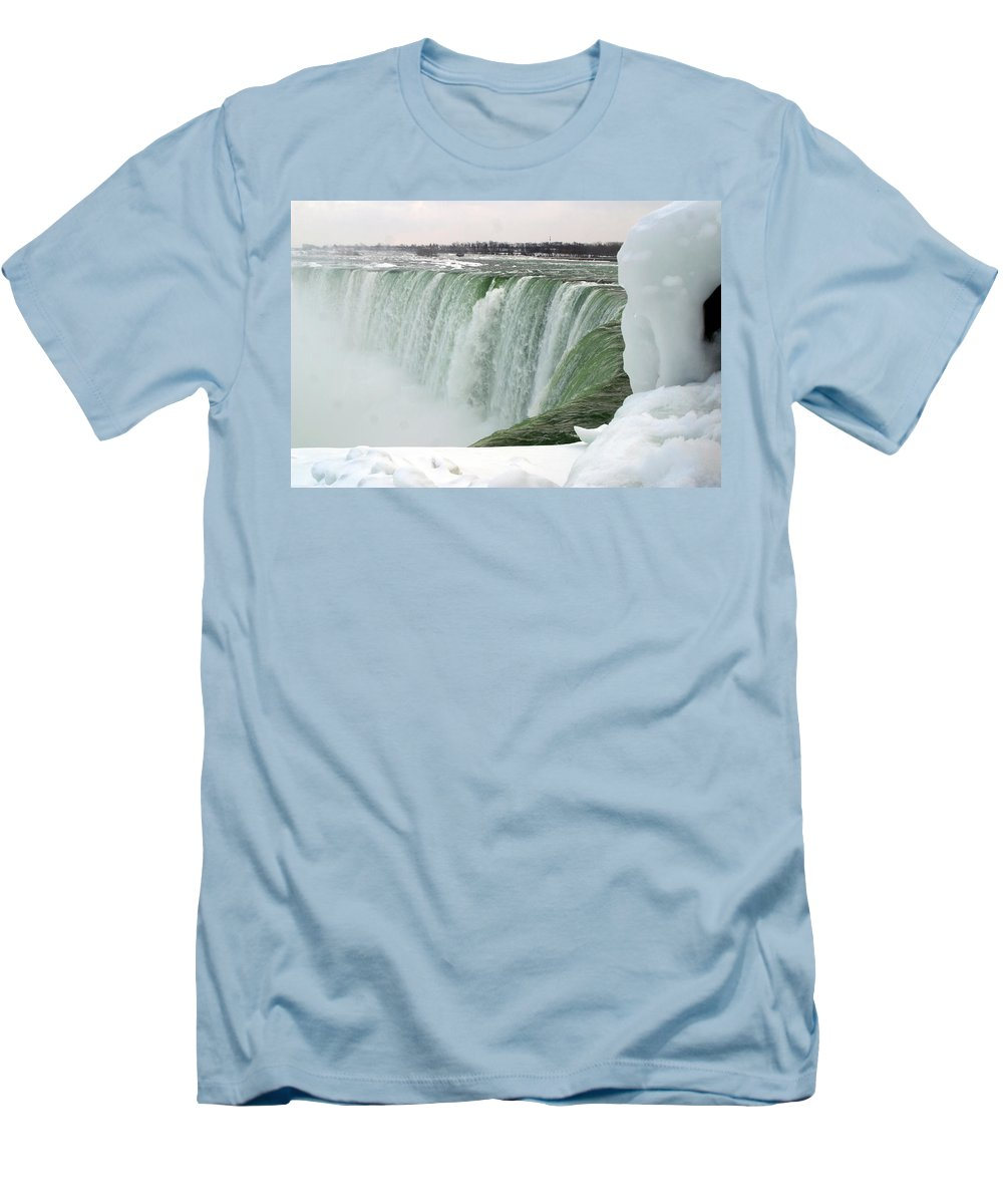 Niagara Falls Men's T-Shirt (Athletic Fit) featuring the photograph Niagara Falls 2 by Anthony Jones