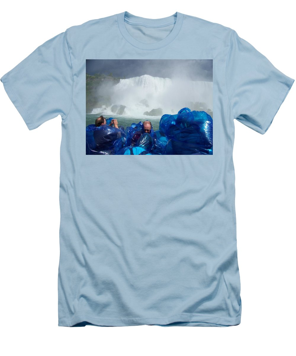 Men's T-Shirt (Athletic Fit) featuring the photograph Niagra Falls Photographers by Laurie Paci