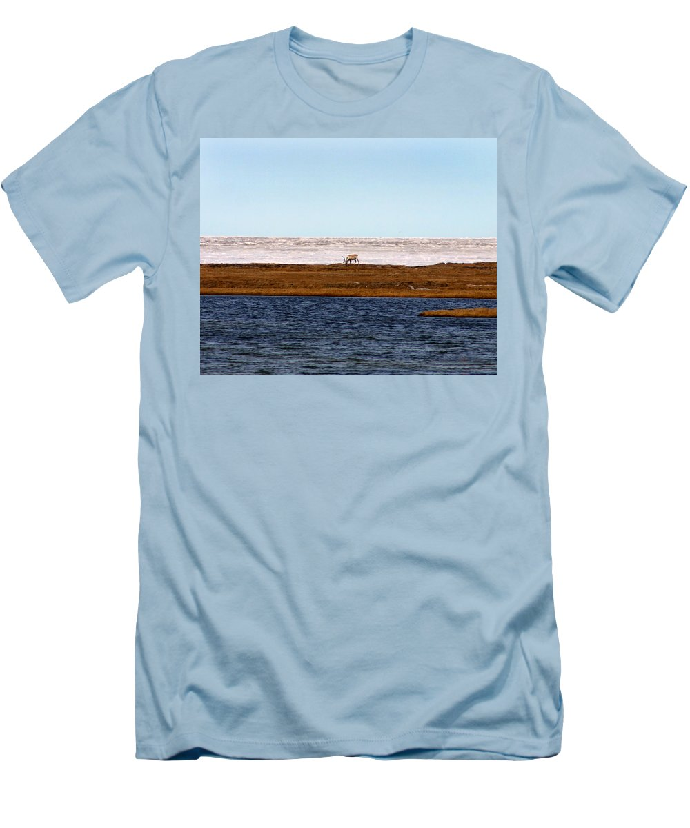 Arctic Men's T-Shirt (Athletic Fit) featuring the photograph North Slope by Anthony Jones