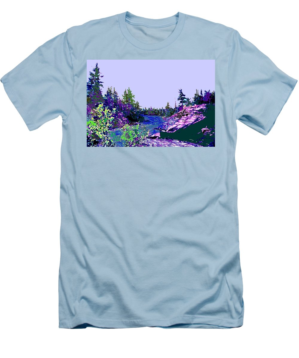 Norlthern Men's T-Shirt (Athletic Fit) featuring the photograph Northern Ontario River by Ian MacDonald