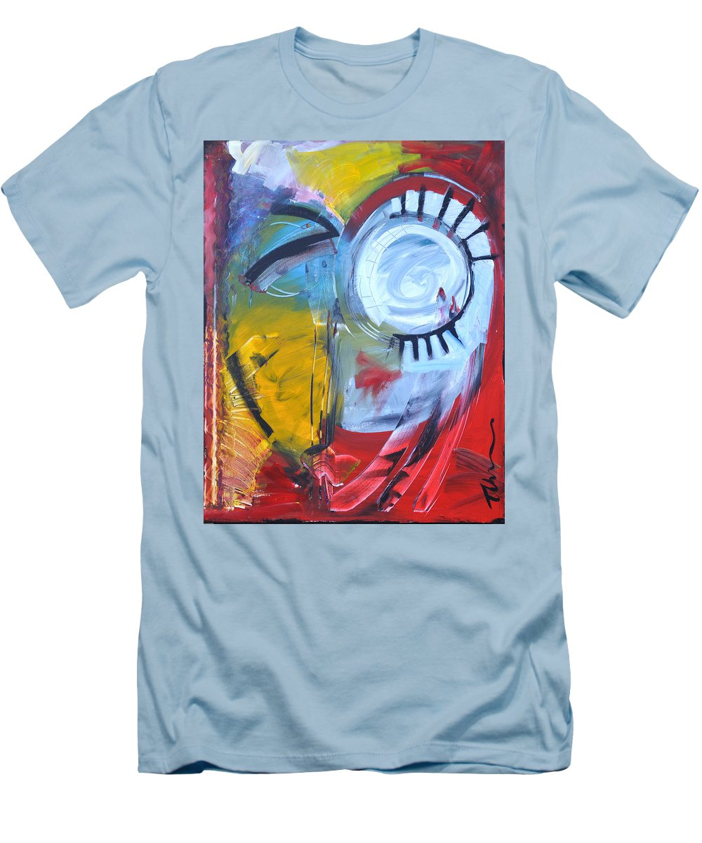 Jim Dine Men's T-Shirt (Athletic Fit) featuring the painting Ode To Jim Dine by Tim Nyberg