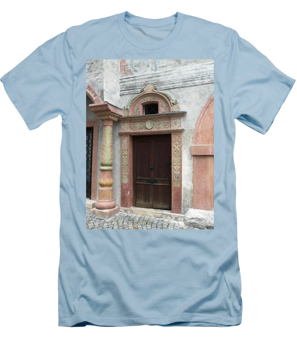 Old Men's T-Shirt (Athletic Fit) featuring the photograph Old Austrian Door by Valerie Ornstein