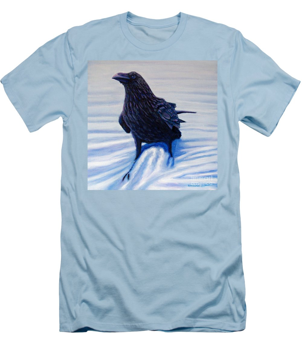 Raven Men's T-Shirt (Athletic Fit) featuring the painting On Canyon Road by Brian Commerford
