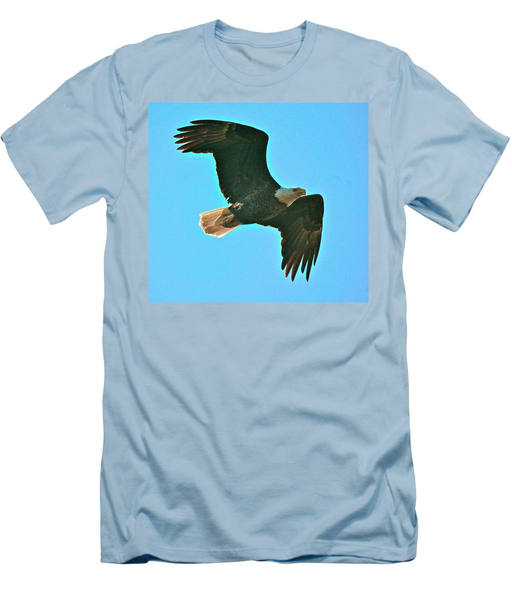 Related Tags: Eagle Artwork Men's T-Shirt (Athletic Fit) featuring the photograph On Patrol by Robert Pearson