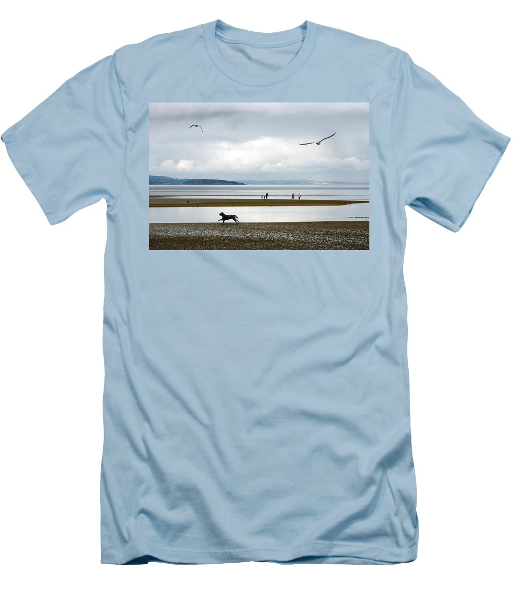Beach Men's T-Shirt (Athletic Fit) featuring the photograph On The Beach by Mal Bray