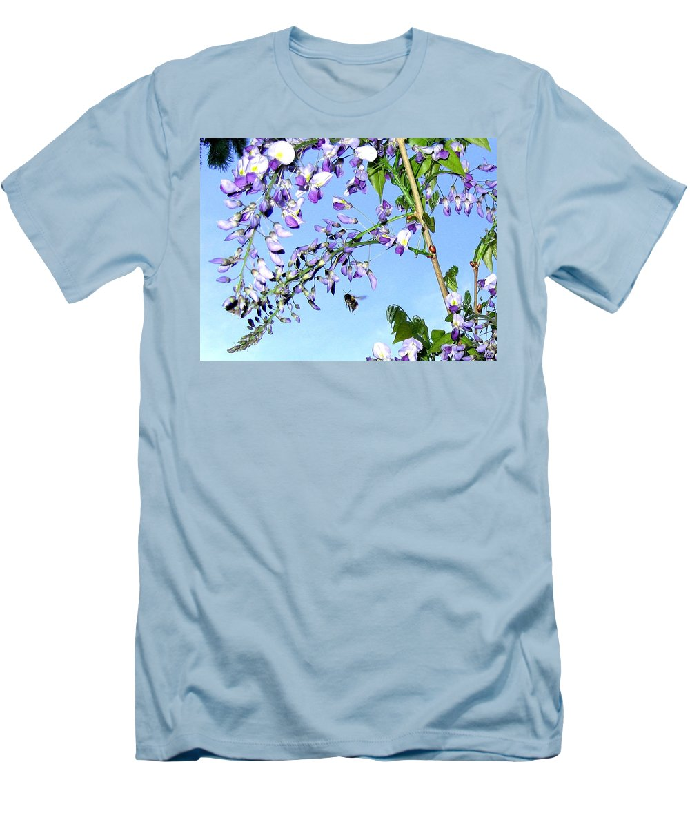 Honeybee Men's T-Shirt (Athletic Fit) featuring the photograph On The Wing by Will Borden