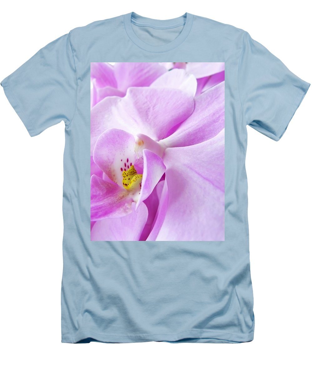 Orchid Men's T-Shirt (Athletic Fit) featuring the photograph Orchid by Daniel Csoka