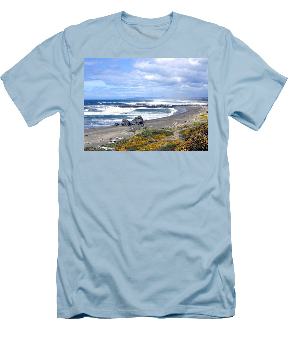 Bandon Men's T-Shirt (Athletic Fit) featuring the photograph Oregon Coast by Will Borden