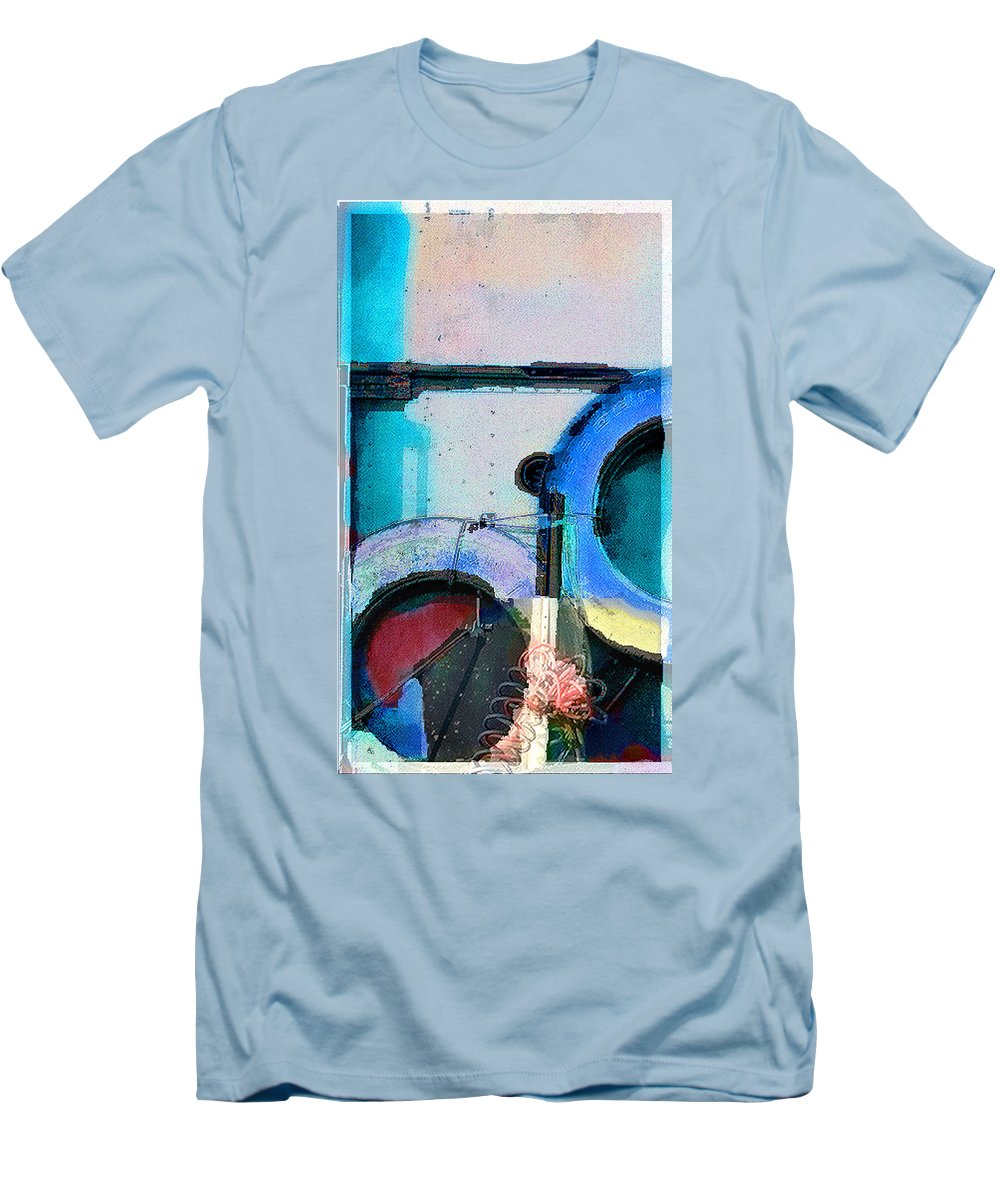 Abstract Men's T-Shirt (Athletic Fit) featuring the photograph panel three from Centrifuge by Steve Karol