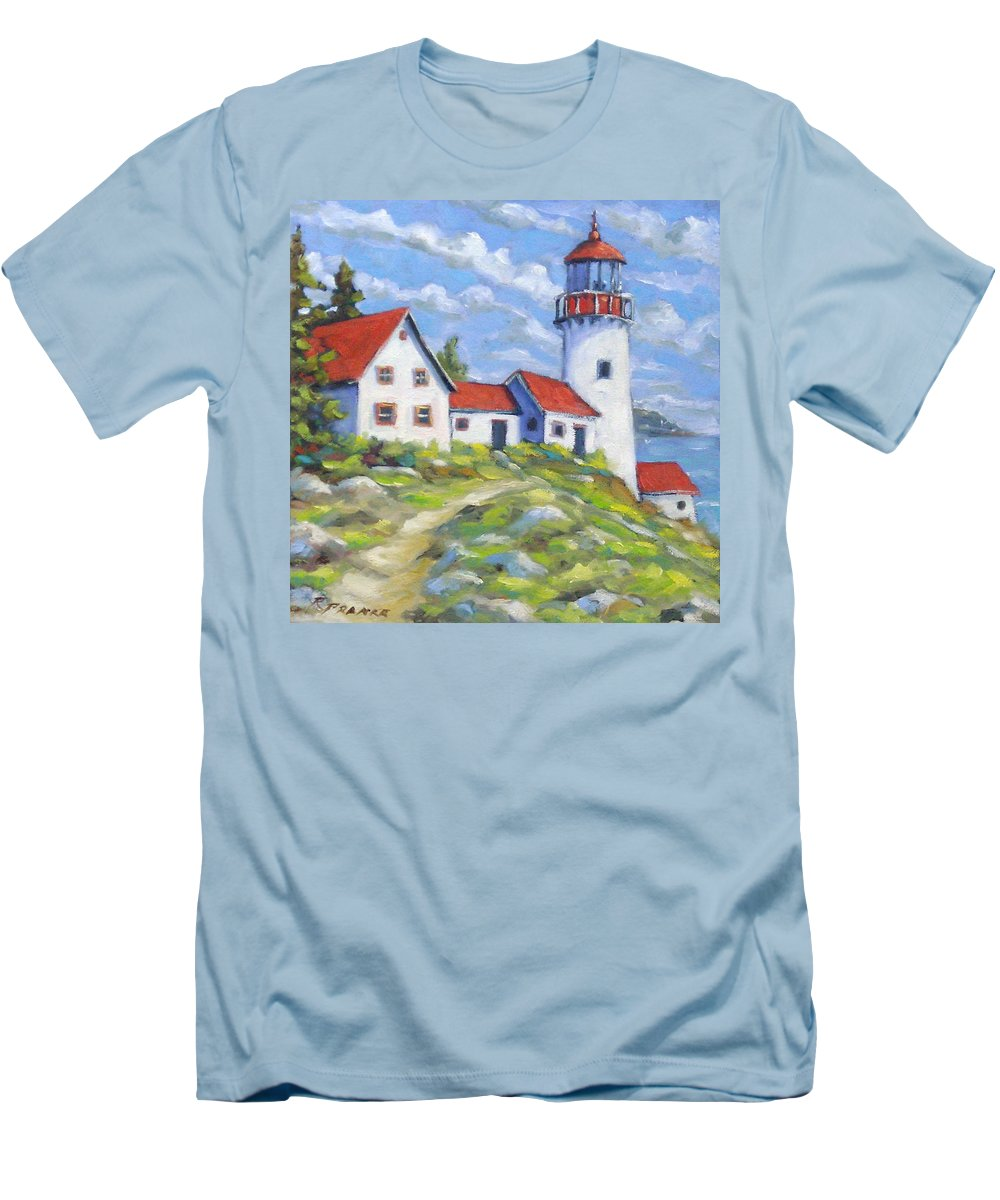 Art Men's T-Shirt (Athletic Fit) featuring the painting Paradise On The Point by Richard T Pranke