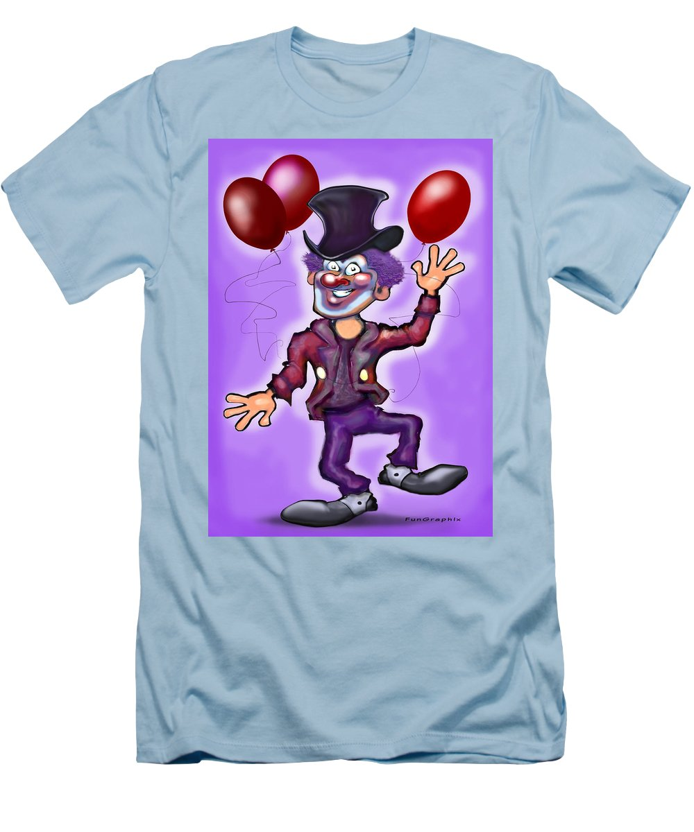 Clown Men's T-Shirt (Athletic Fit) featuring the greeting card Party Clown by Kevin Middleton