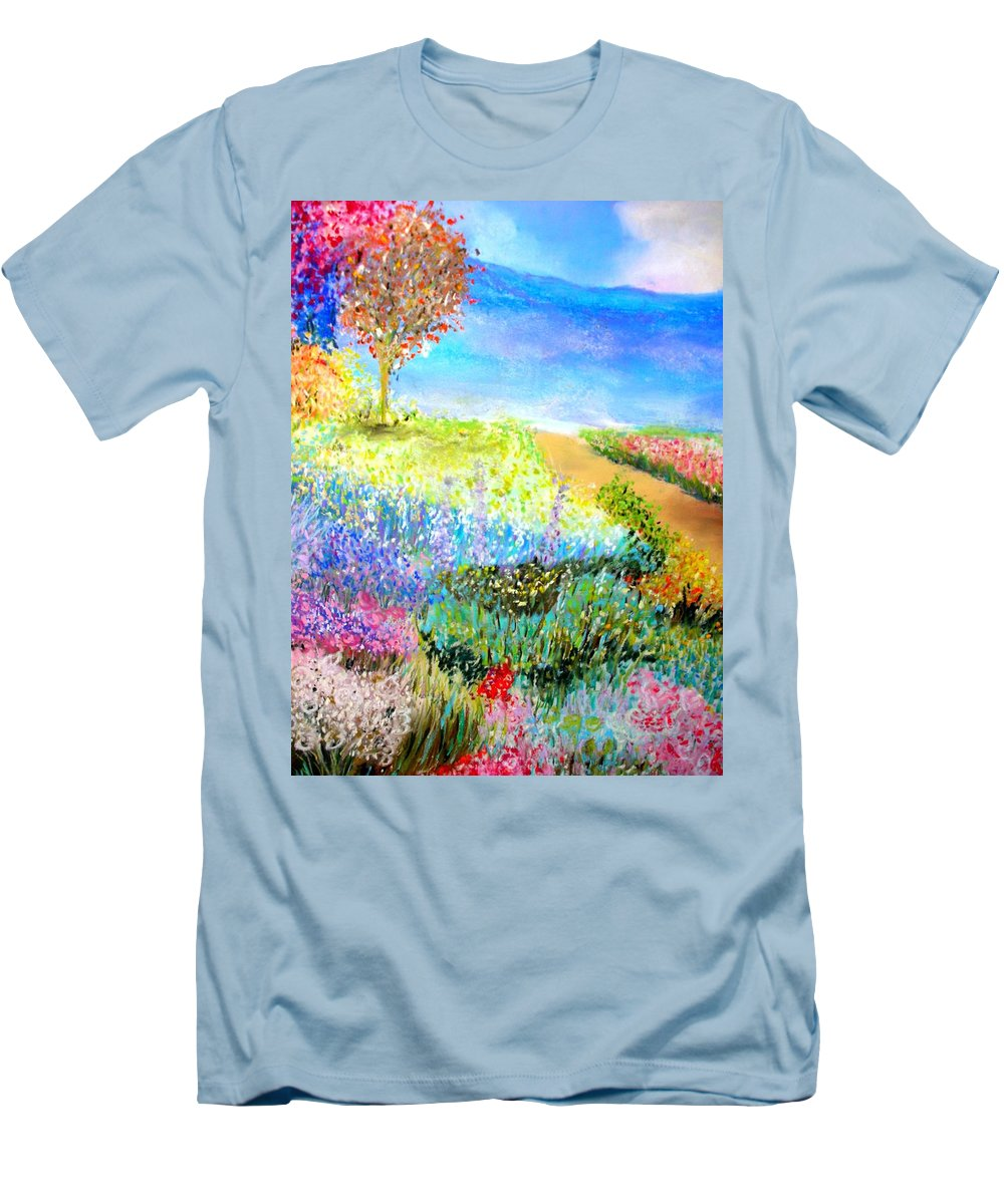 Landscape Men's T-Shirt (Athletic Fit) featuring the print Patricia's Pathway by Melinda Etzold
