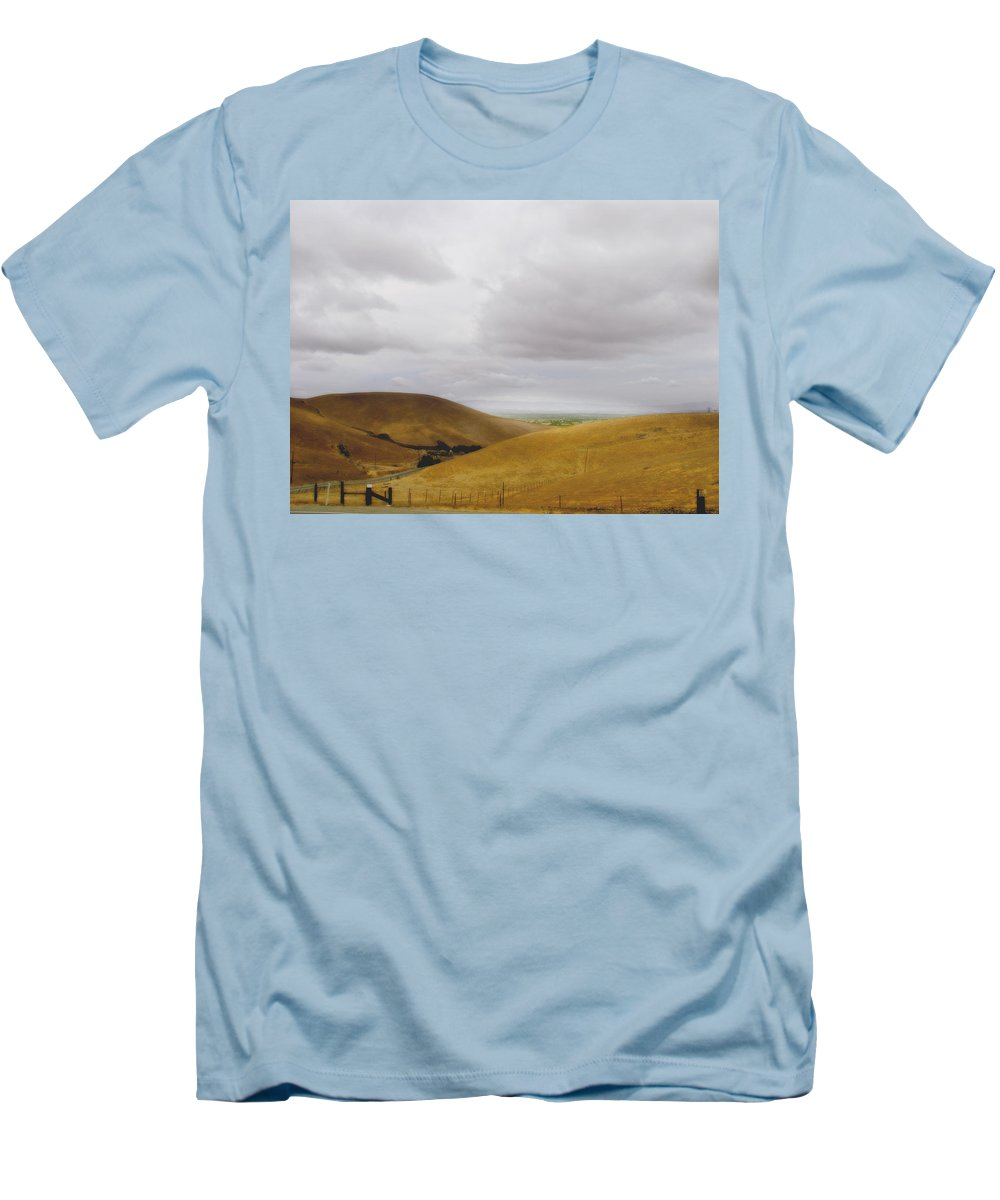 Landscape Men's T-Shirt (Athletic Fit) featuring the photograph Patterson Pass Road by Karen W Meyer