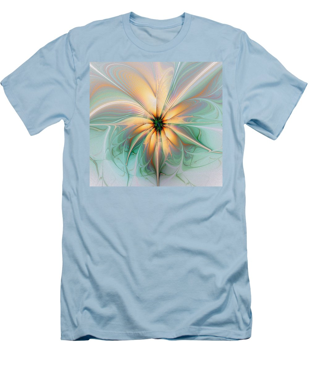 Digital Art Men's T-Shirt (Athletic Fit) featuring the digital art Peach Allure by Amanda Moore