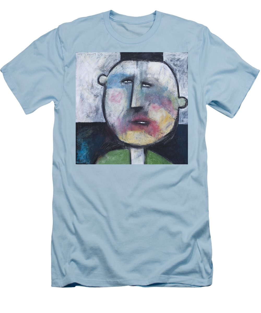 Funny Men's T-Shirt (Athletic Fit) featuring the painting Pillbox by Tim Nyberg