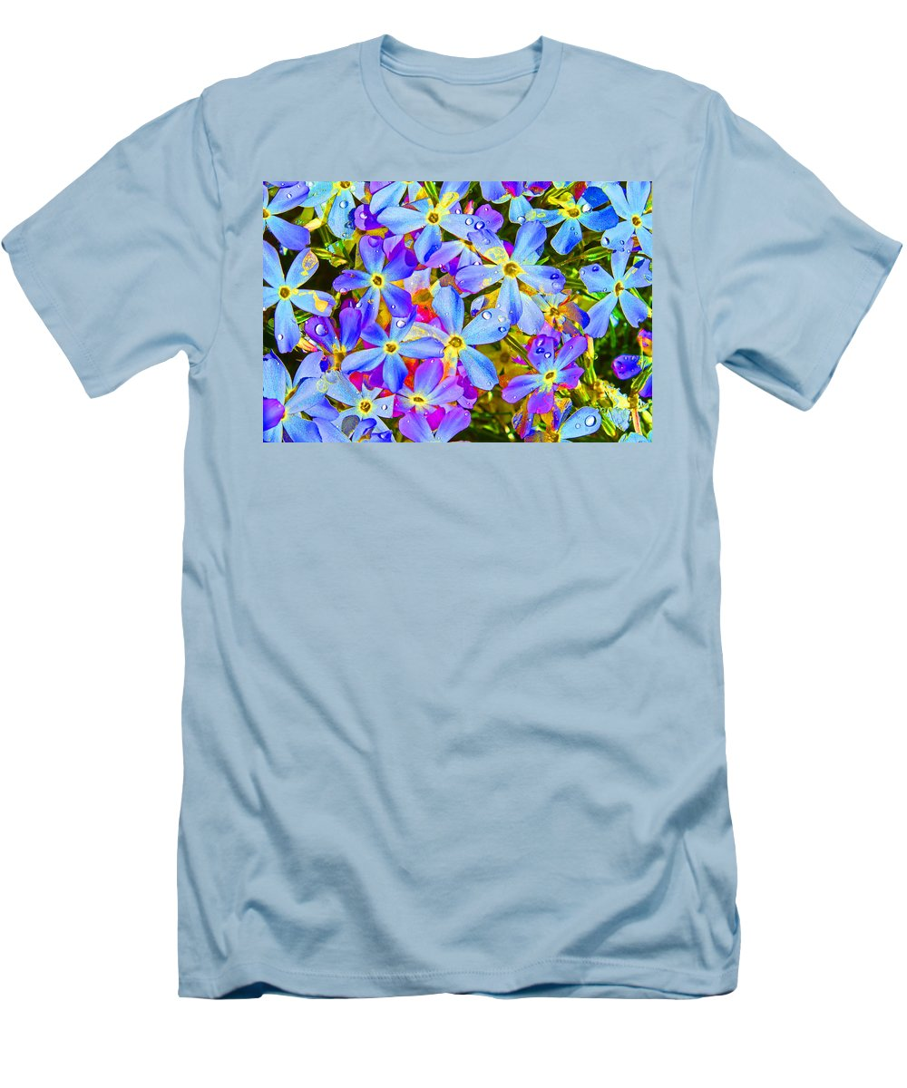 Wildflower Men's T-Shirt (Athletic Fit) featuring the photograph Pincushion Flower by Heather Coen