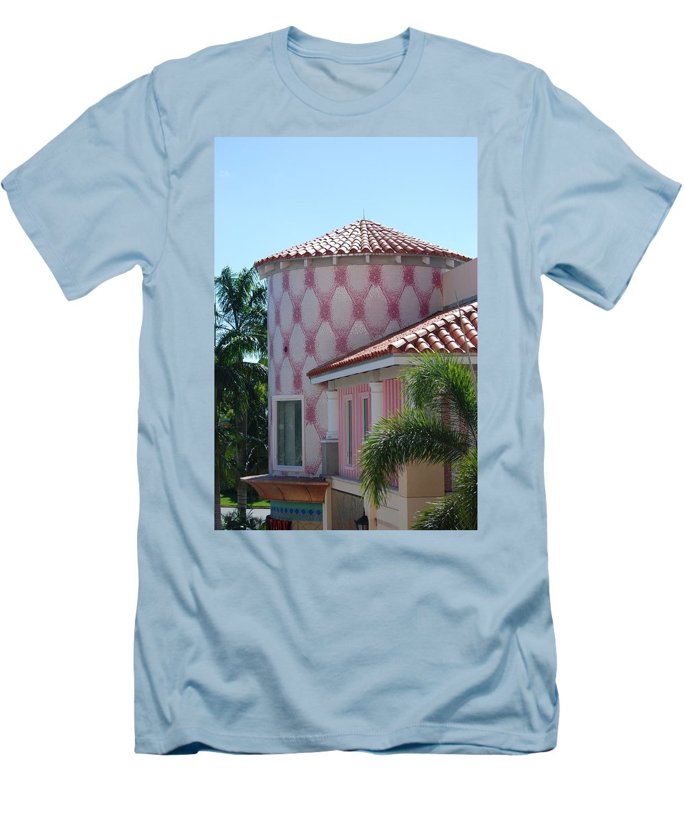 Architecture Men's T-Shirt (Athletic Fit) featuring the photograph Pink Tower by Rob Hans