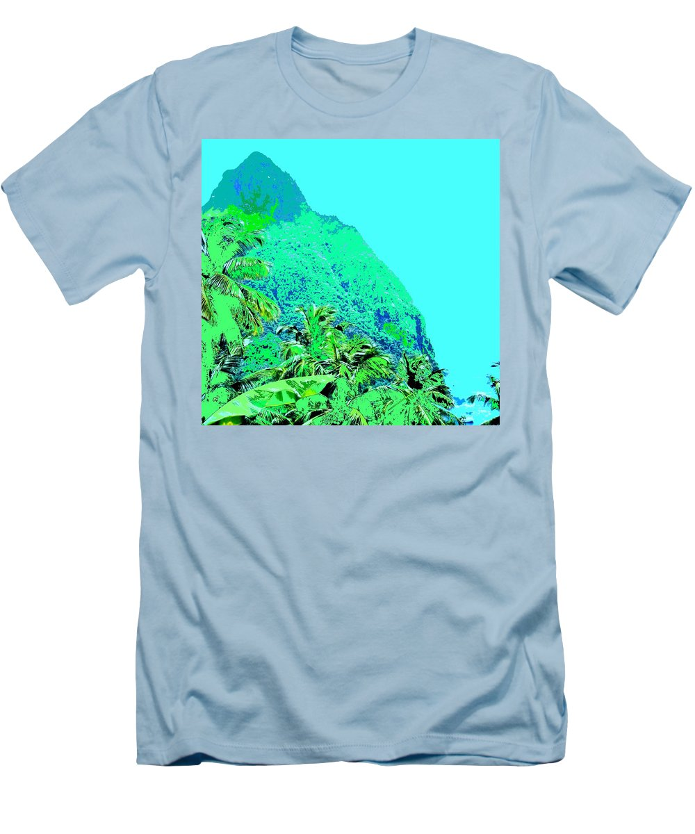 Pitons Men's T-Shirt (Athletic Fit) featuring the photograph Pitons by Ian MacDonald