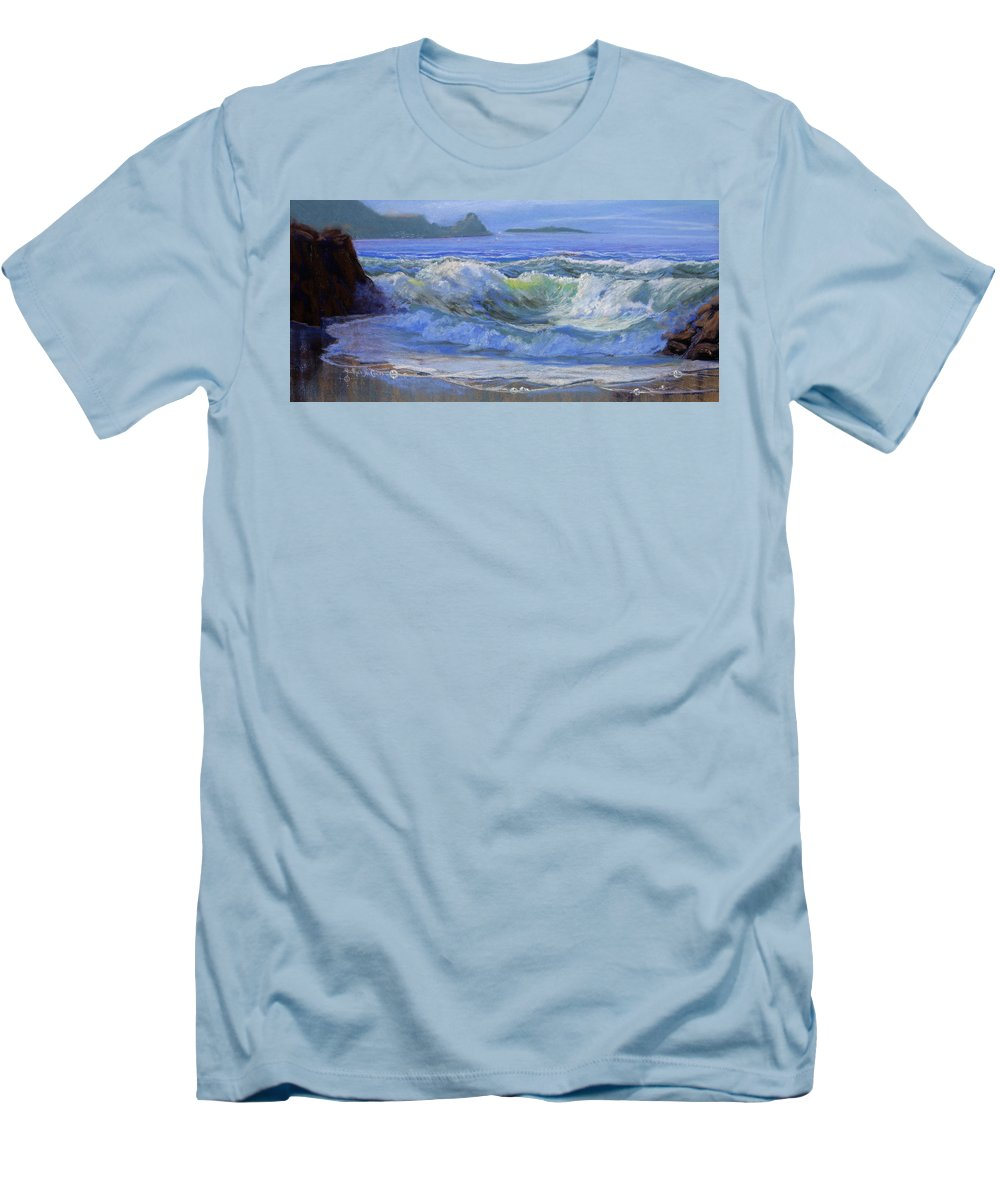 Seascape Men's T-Shirt (Athletic Fit) featuring the painting Point Reyes by Heather Coen