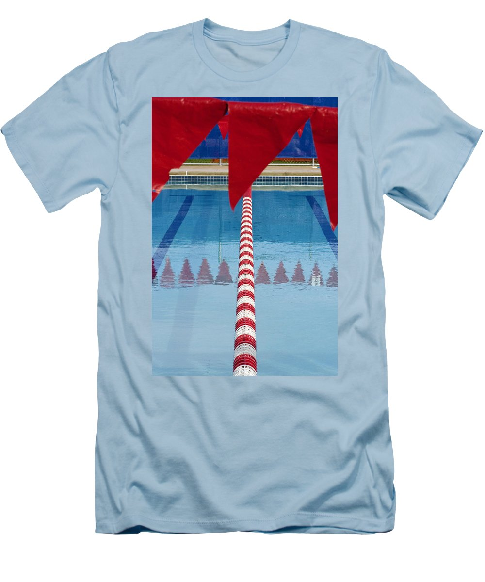 Flag Men's T-Shirt (Athletic Fit) featuring the photograph Pool by Skip Hunt
