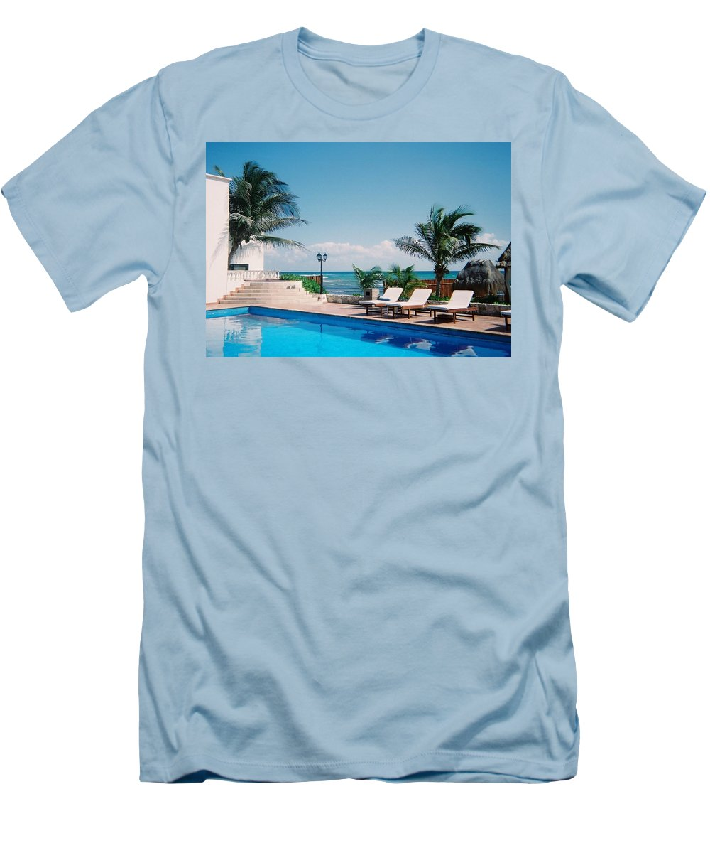 Resort Men's T-Shirt (Athletic Fit) featuring the photograph Poolside by Anita Burgermeister
