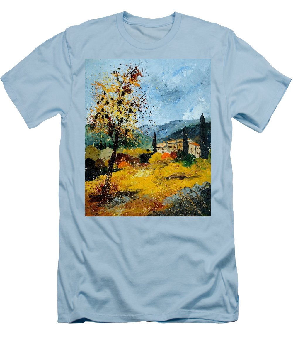 Provence Men's T-Shirt (Athletic Fit) featuring the painting Provence 45 by Pol Ledent