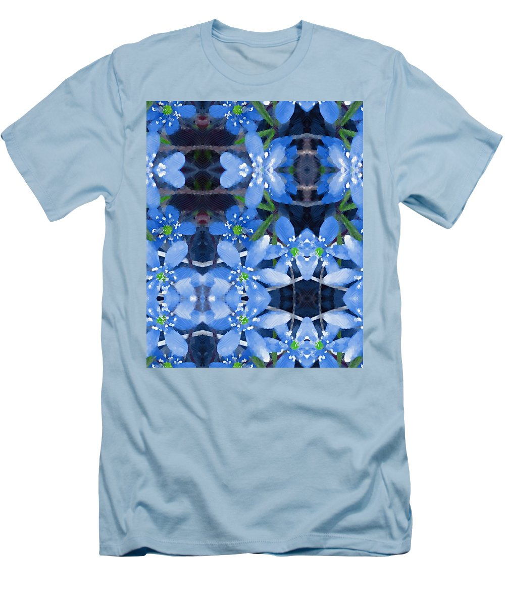 Flowers Men's T-Shirt (Athletic Fit) featuring the mixed media Pure For Life by Pepita Selles