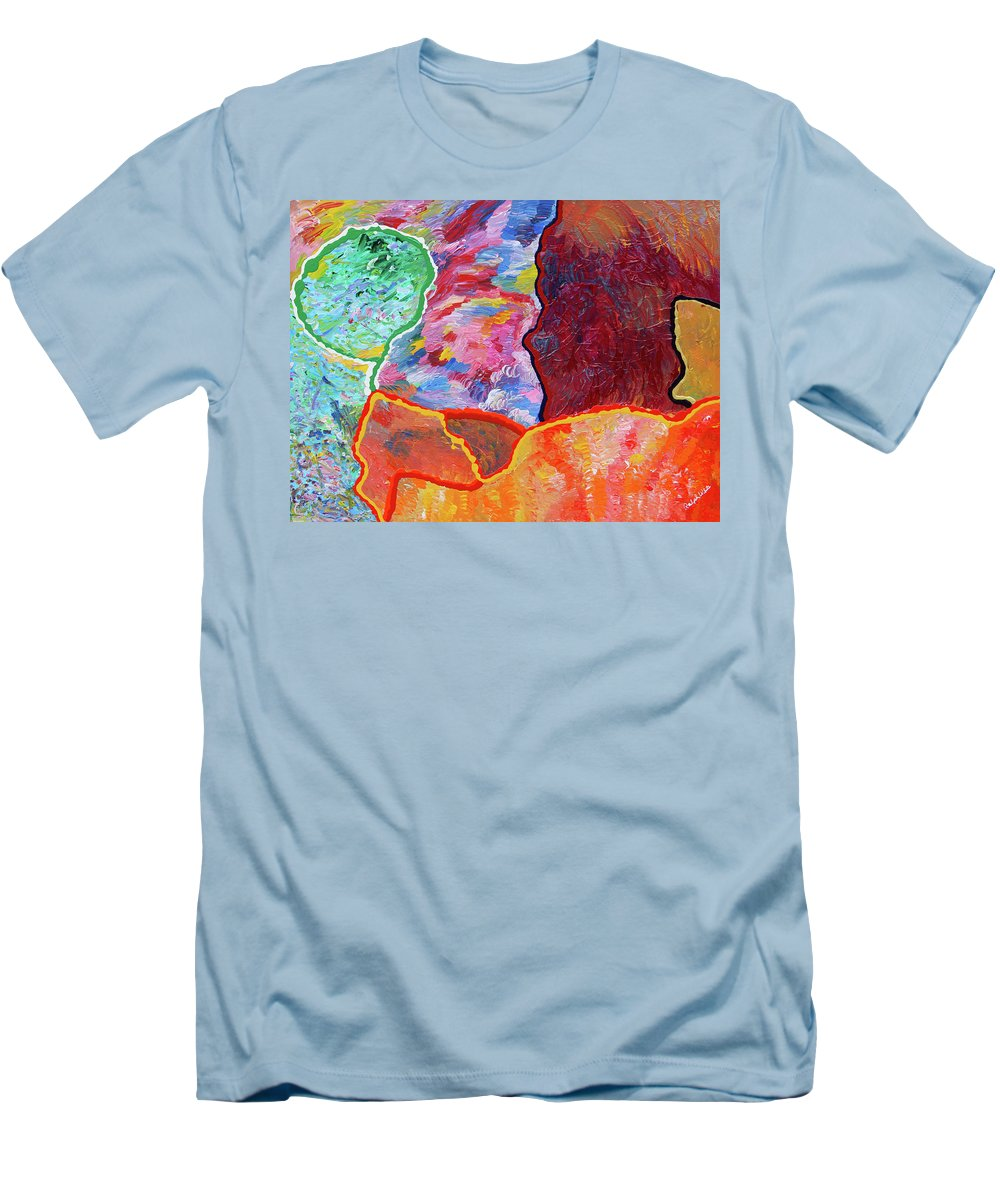 Fusionart Men's T-Shirt (Athletic Fit) featuring the painting Puzzle by Ralph White
