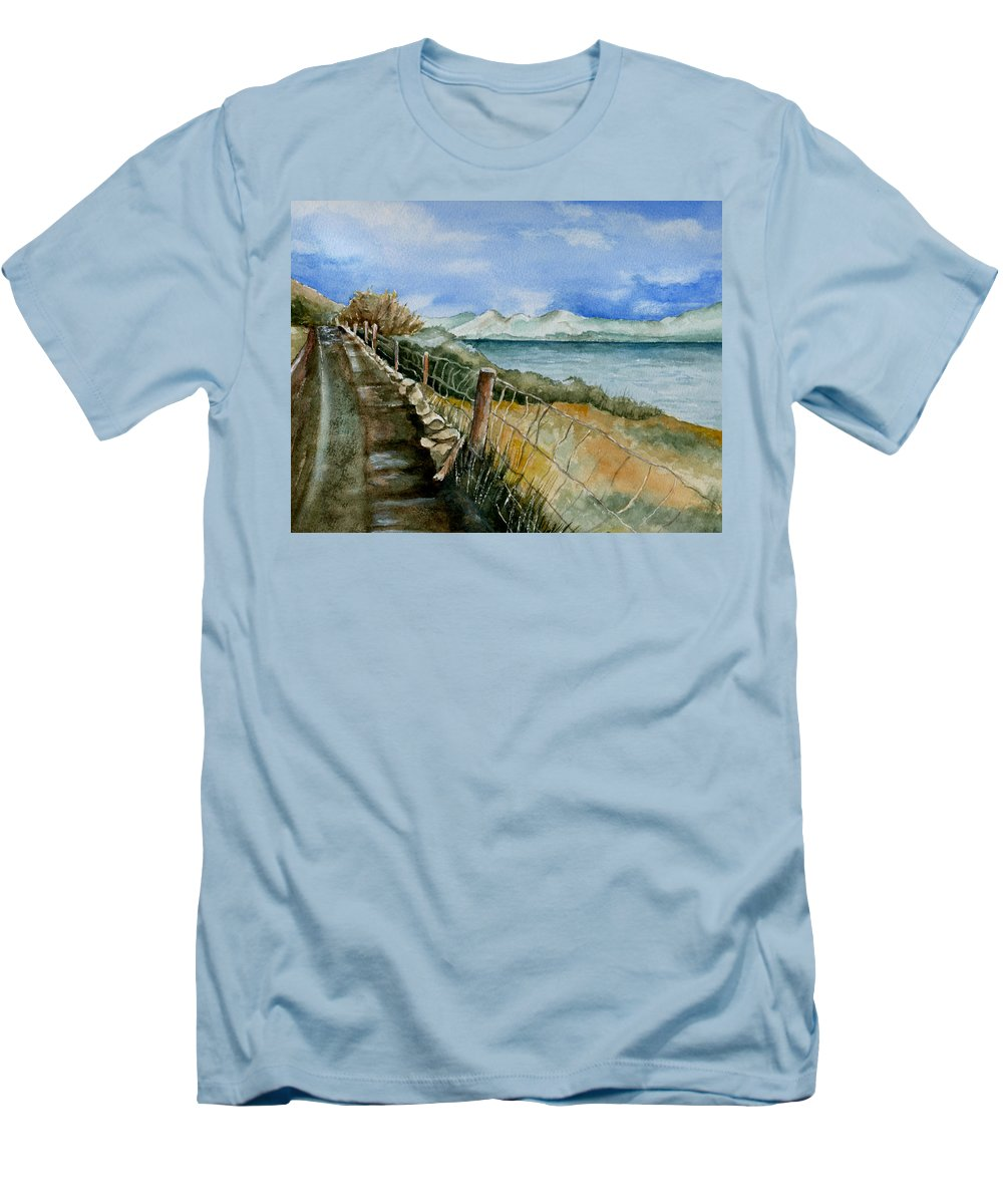 Watercolor Men's T-Shirt (Athletic Fit) featuring the painting Rambling Walk by Brenda Owen