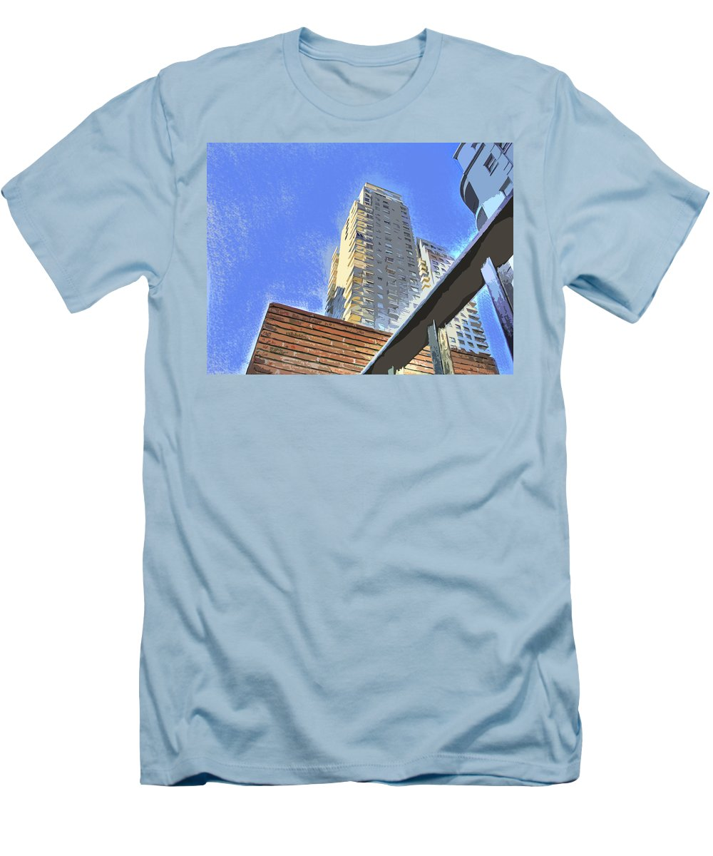 Building Men's T-Shirt (Athletic Fit) featuring the photograph Reaching For The Sky by Francisco Colon
