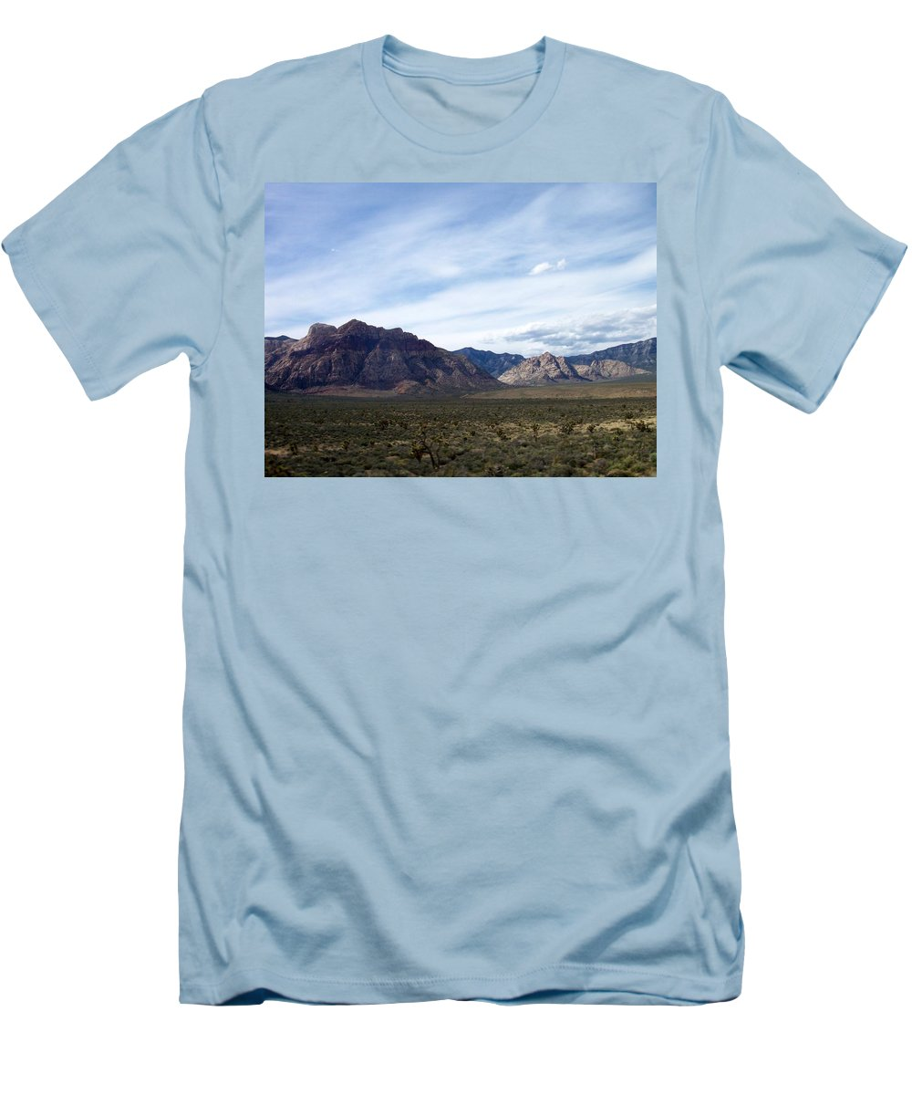 Red Rock Canyon Men's T-Shirt (Athletic Fit) featuring the photograph Red Rock Canyon 4 by Anita Burgermeister