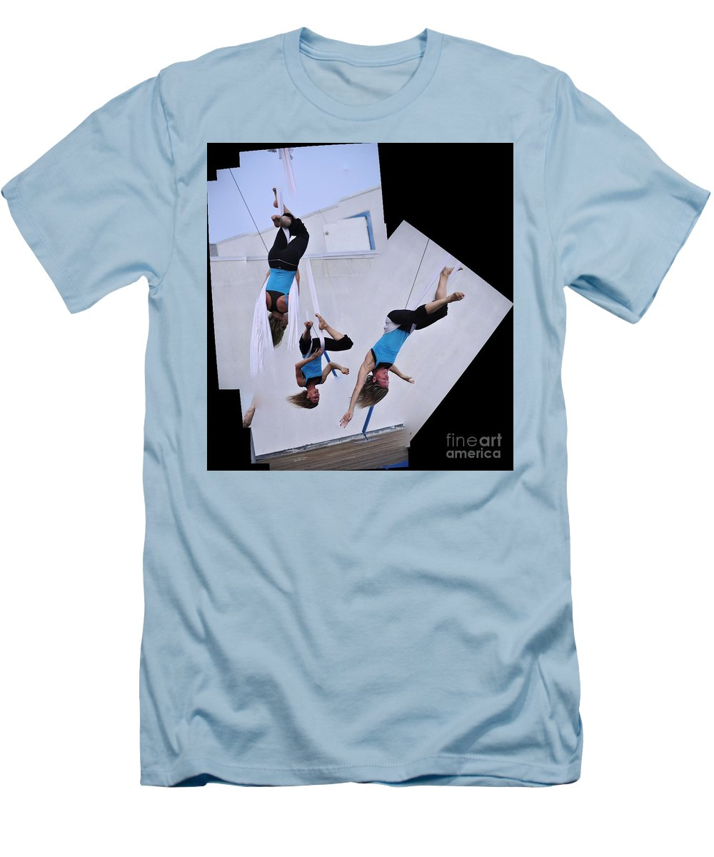 Clay Men's T-Shirt (Athletic Fit) featuring the photograph Rehearsing by Clayton Bruster