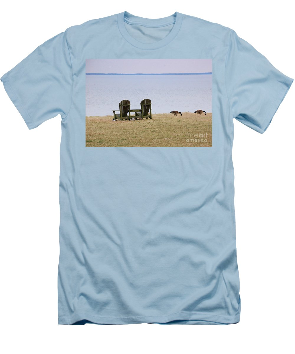 Chairs Men's T-Shirt (Athletic Fit) featuring the photograph Relax by Debbi Granruth
