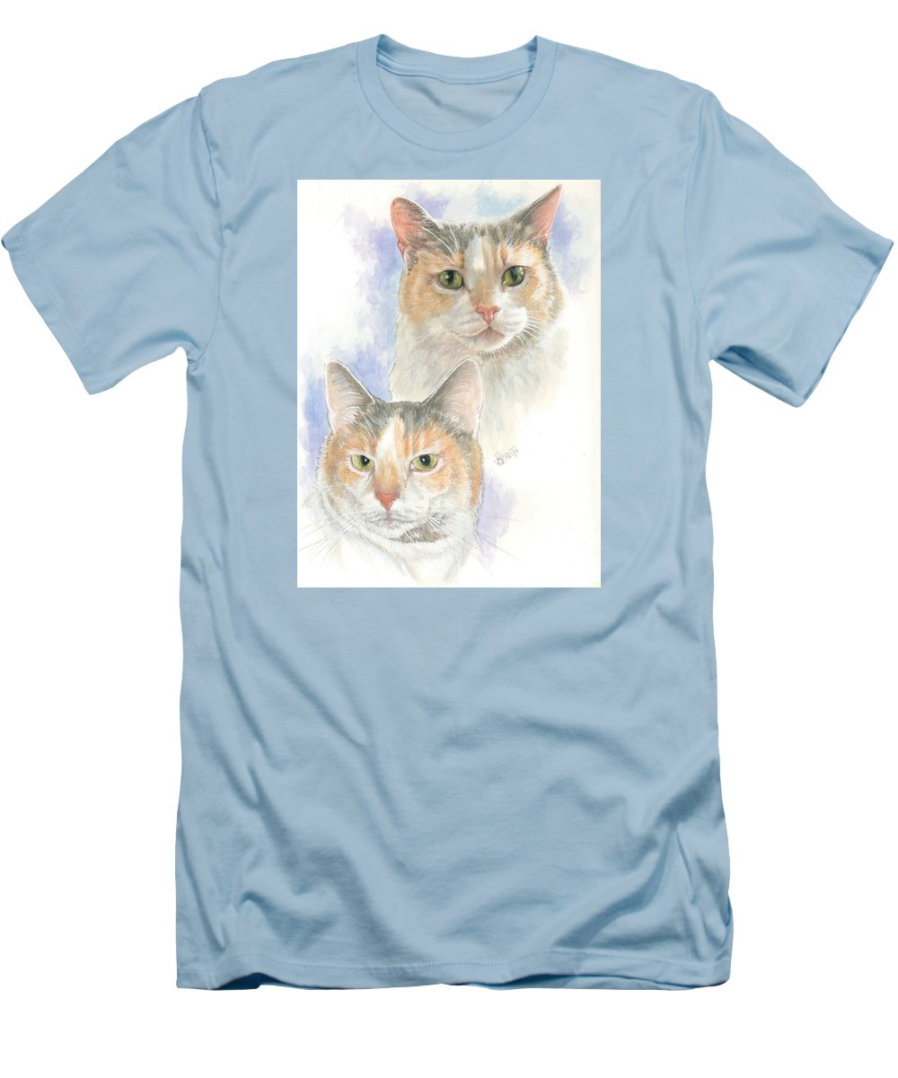Domestic Cat Men's T-Shirt (Athletic Fit) featuring the mixed media Reno by Barbara Keith